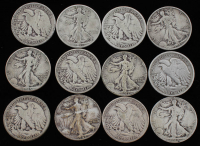 Lot of (12) 1928-1945 Walking Liberty Silver Half Dollars at PristineAuction.com