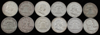 Lot of (12) 1950-1963 Franklin Half Dollars at PristineAuction.com