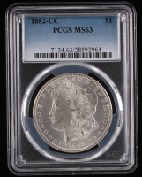 1882-CC Morgan Silver Dollar (PCGS MS63) at PristineAuction.com