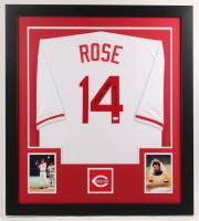 "Pete Rose Signed 31x35 Custom Framed Jersey Inscribed ""4256"" (JSA COA) at PristineAuction.com"