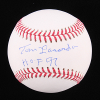 "Tommy Lasorda Signed OML Baseball Inscribed ""HOF 97"" (Real Deal COA) at PristineAuction.com"