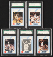 Lot of (5) SGC 9 Graded 1989-90 North Carolina Collegiate Collection Michael Jordan with #15, #16, #17, #18, & #65 at PristineAuction.com