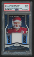 Patrick Mahomes II 2017 Certified New Generation Jerseys #7 (PSA 9) at PristineAuction.com