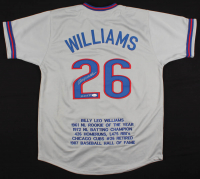 "Billy Williams Signed Career Highlight Stat Jersey Inscribed ""HOF 87'' (JSA Hologram) at PristineAuction.com"
