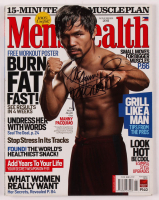 """Manny Pacquiao Twice-Signed Men's Health Magazine Inscribed """"Pacman"""" (Pacquiao COA) at PristineAuction.com"""