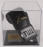 Julio Cesar Chavez Signed Title Boxing Glove with Display Case (JSA COA) at PristineAuction.com