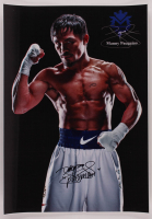 """Manny Pacquiao Signed 15x21 Photo Inscribed """"Pacman"""" (Pacquiao COA) at PristineAuction.com"""