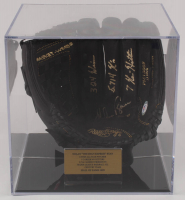 "Nolan Ryan Signed Rawlings Baseball Glove with Display Case Inscribed ""324 Wins"", ""5,714 K's"" & ""7 No-Hitters"" (PSA COA) at PristineAuction.com"