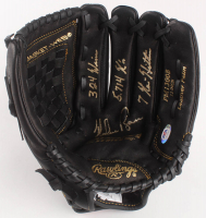 """Nolan Ryan Signed Rawlings Baseball Glove with Display Case Inscribed """"324 Wins"""", """"5,714 K's"""" & """"7 No-Hitters"""" (PSA COA) at PristineAuction.com"""