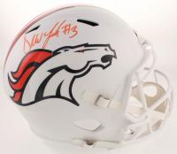 Drew Lock Signed Broncos Matte White Full-Size Speed Helmet (Beckett COA) at PristineAuction.com