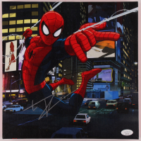 "Tom Holland Signed ""Spider-Man"" 11.5x11.5 Custom Mounted Canvas (JSA COA) at PristineAuction.com"