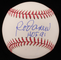"Rod Carew Signed OML Baseball Inscribed ""HOF 91"" (JSA COA) at PristineAuction.com"