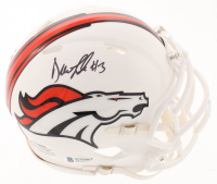 Drew Lock Signed Broncos Matte White Speed Mini-Helmet (Beckett COA) at PristineAuction.com