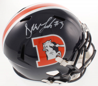 Drew Lock Signed Broncos Full-Size Color Rush Speed Helmet (Beckett COA) at PristineAuction.com