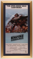 """Star Wars: Episode V – The Empire Strikes Back"" 16x29 Custom Framed Movie Poster Print Display at PristineAuction.com"