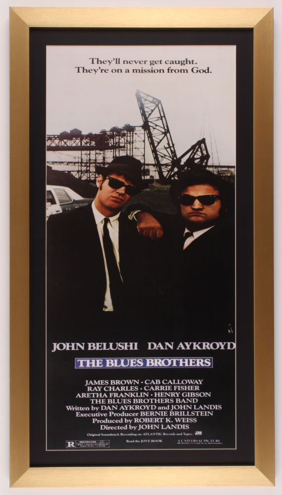 """""""The Blues Brothers"""" 16x29 Custom Framed Movie Poster Print Display at PristineAuction.com"""