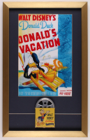 "Walt Disney's ""Donald Duck"" 16.5x26 Custom Framed Print with Vintage 8mm Film Reel at PristineAuction.com"
