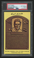 Earl Averill Signed Gold Hall of Fame Plaque Postcard (PSA Encapsulated) at PristineAuction.com