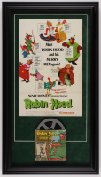 "Walt Disney's ""Robin Hood"" 16.5x29.5 Custom Framed Print with Vintage 8mm Film Reel at PristineAuction.com"