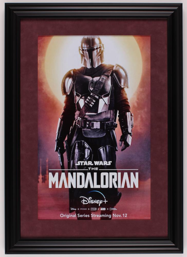 """Star Wars: The Mandalorian"" 16x22.5 Custom Framed Movie Poster Print Display at PristineAuction.com"