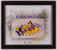 Kobe Bryant Lakers 15x17 Custom Framed Photo Display at PristineAuction.com