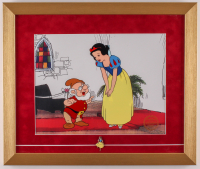 "Walt Disney's ""Snow White and the Seven Dwarfs"" 16x19 Custom Framed Animation Serigraph Display with Snow White Pin at PristineAuction.com"