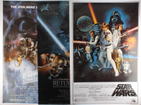 "Lot of (3) Star Wars 24x36 Movie Posters with ""Star Wars,"" ""Star Wars: The Empire Strikes Back"" & ""Star Wars: Return of the Jedi"" at PristineAuction.com"
