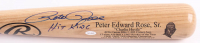 "Pete Rose Signed Rawlings Adirondack Career Highlight Baseball Bat Inscribed ""Hit King"" (Rose Hologram & JSA COA) at PristineAuction.com"