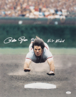 "Pete Rose Signed Reds 16x20 Photo Inscribed ""Hit King"" (JSA COA) at PristineAuction.com"