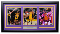 Kobe Bryant Lakers 17.5x32.5 Custom Framed Photo Display at PristineAuction.com