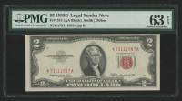 1953-B $2 Two-Dollar Red Seal United States Legal Tender Note (PMG 63) at PristineAuction.com