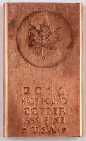 2011 1/2 Half-Pound .999 Fine Copper Maple Leaf Bullion Bar at PristineAuction.com