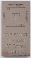 One Pound .999 Fine Titanium Bullion Bar at PristineAuction.com