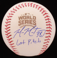 "Mike Montgomery Signed 2016 World Series Baseball Inscribed ""Last Pitch"" (Schwartz COA) at PristineAuction.com"