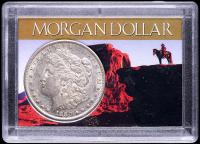 1880-S Morgan Silver Dollar with Western Holder at PristineAuction.com
