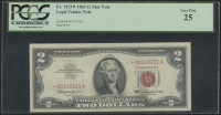1963 $2 Two-Dollar Star Note Red Seal United States Legal Tender Note (PCGS 25) at PristineAuction.com
