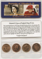 Set of (4) Queen Of England Historical Coins with KM-3a, KM-21, KM-896 & KM-1037 at PristineAuction.com