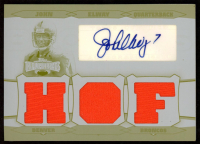 John Elway 2006 Topps Triple Threads Autographed Relic Printing Plate Yellow #70 at PristineAuction.com