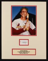 Stan Musial Signed St. Louis Cardinals 14x18 Custom Matted Cut Display (JSA COA) at PristineAuction.com