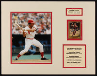 Johnny Bench Signed Reds 14x18 Custom Matted Baseball Card Display (SOP COA) at PristineAuction.com