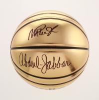Kareem Abdul-Jabbar & Magic Johnson Signed Basketball (Schwartz COA) at PristineAuction.com