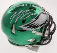 "Malcolm Jenkins Signed Eagles Chrome Mini Speed Helmet Inscribed ""SB LII Champs!"" (PSA COA) at PristineAuction.com"