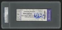 Ichiro Suzuki Signed 2016 Rockies Game Ticket (PSA Encapsulated) at PristineAuction.com