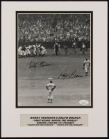 """Bobby Thomson & Ralph Branca Signed Giants """"The Shot Heard 'Round The World"""" 11x14 Custom Matted Photo Display (JSA COA) at PristineAuction.com"""