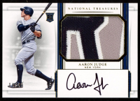 Aaron Judge 2017 Panini National Treasures Gold #162 Jersey Autograph at PristineAuction.com
