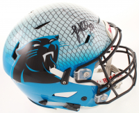 Luke Kuechly Signed Panthers Full-Size Authentic On-Field Hydro Dipped SpeedFlex Youth Helmet (Beckett COA) at PristineAuction.com