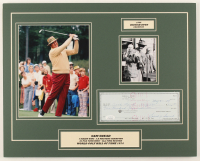 Sam Snead Signed 16x20 Custom Matted Personal Check Display with Photos (JSA COA) at PristineAuction.com