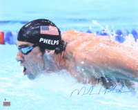 Michael Phelps Signed 16x20 Photo (Phelps Hologram & Beckett COA) at PristineAuction.com