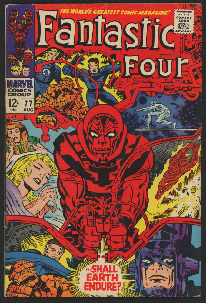 """1968 """"Fantastic Four"""" Issue #77 Marvel Comic Book at PristineAuction.com"""