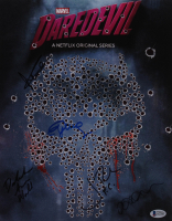 """Daredevil"" 11x14 Photo Cast-Signed by (5) with Charlie Cox, Jon Bernthal, Elden Henson, Deborah Ann Woll & Elodie Yung (Beckett LOA) at PristineAuction.com"
